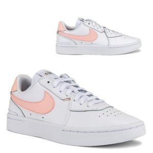 Nike Court Blanc in White & Washed Coral - 6